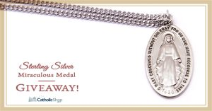 FREE Sterling Silver Miraculous Medal Giveaway!