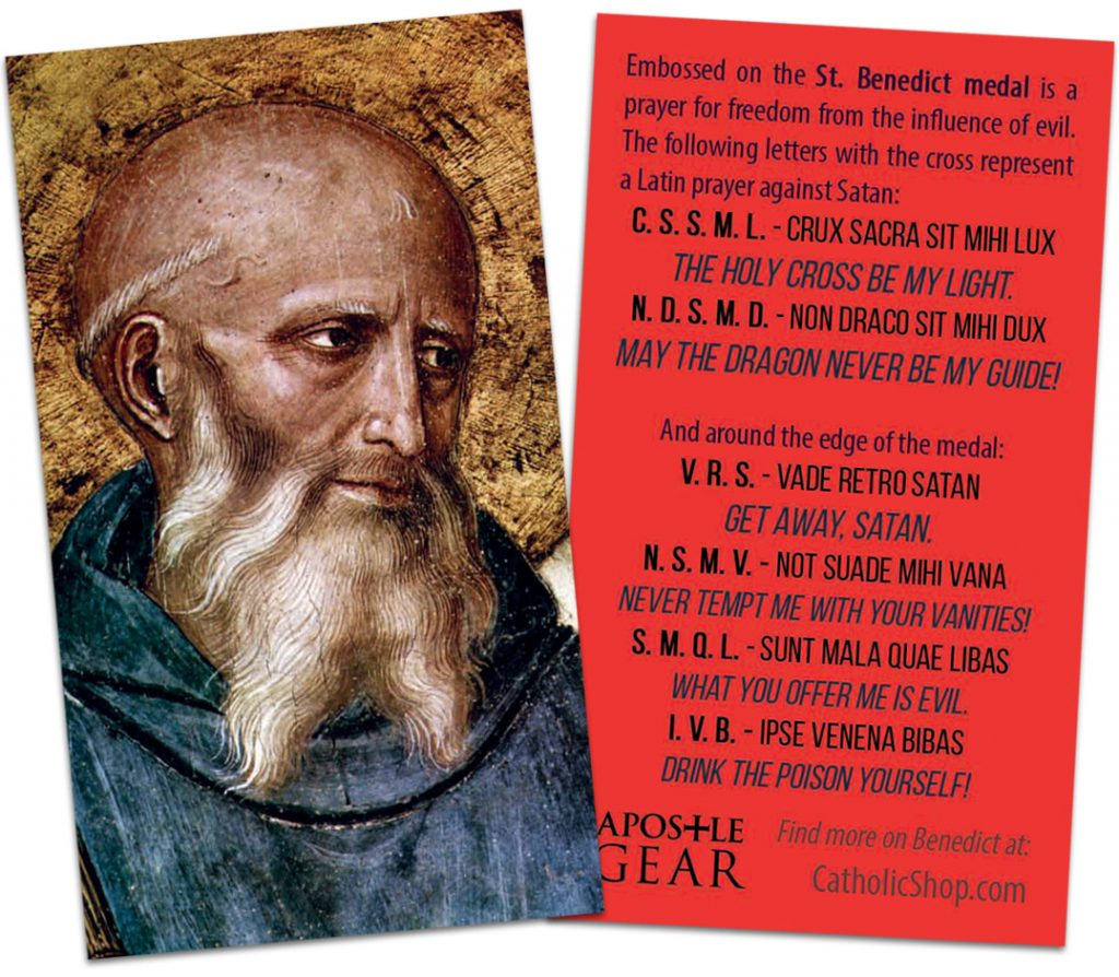 St. Benedict prayer card