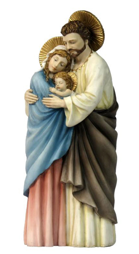 9 Inch The Holy Family Orthodox Religious Resin Statue Figurine