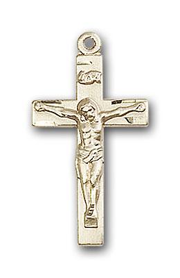 14K Gold Crucifix Pendant