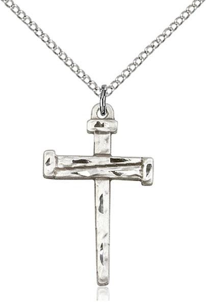 Sterling Silver Nail Cross Pendant