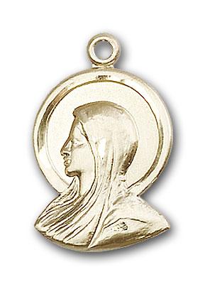14K Gold Madonna Pendant