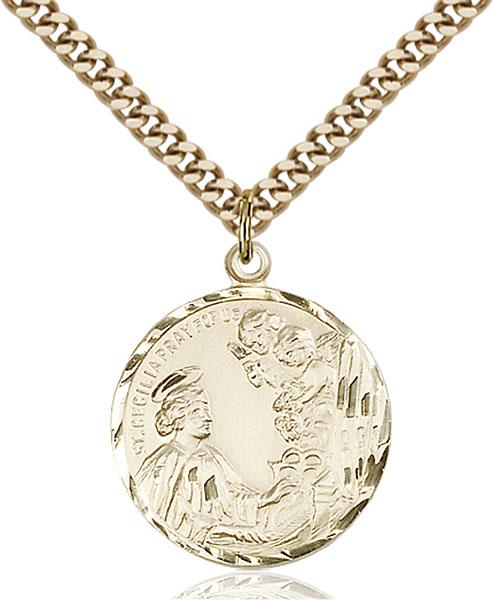 Gold-Filled St. Cecilia Pendant