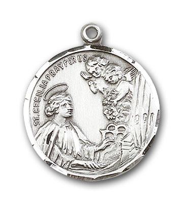 Sterling Silver St. Cecilia Pendant