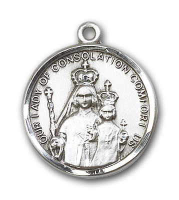 Sterling Silver Our Lady of Consolation Pendant