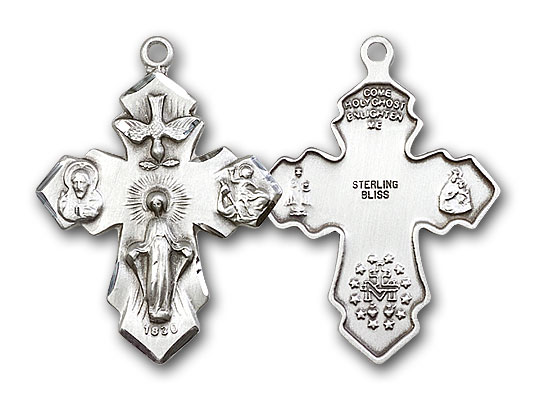 Sterling Silver 4-Way Pendant