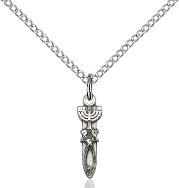 Sterling Silver Menorah / Star / Fish Pendant