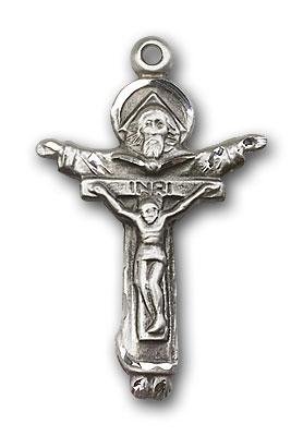 Sterling Silver Trinity Crucifix Pendant