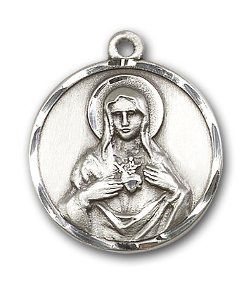 Sterling Silver Immaculate Heart of Mary Pendant