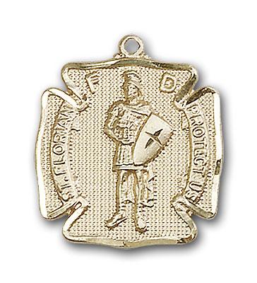 14K Gold St. Florian Pendant - Engravable