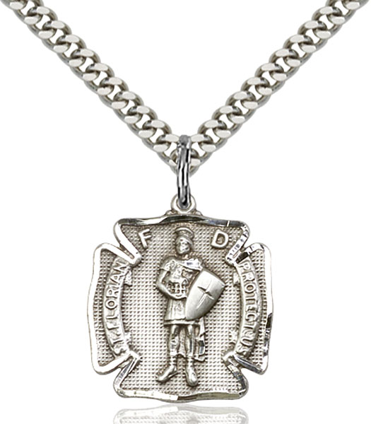 Sterling Silver St. Florian Pendant