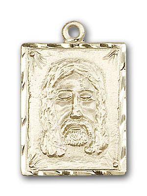 14K Gold Holy Face Pendant
