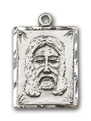 Sterling Silver Holy Face Pendant
