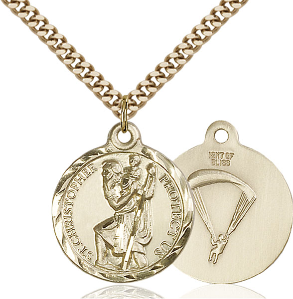 Gold-Filled St. Christopher / Paratrooper Pendant