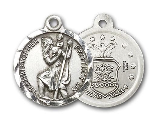 Sterling Silver St. Christopher Pendant