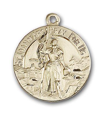 14K Gold St. Joan of Arc Pendant - Engravable