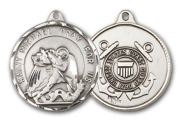 Sterling Silver St. Michael / Coast Guard Pendant
