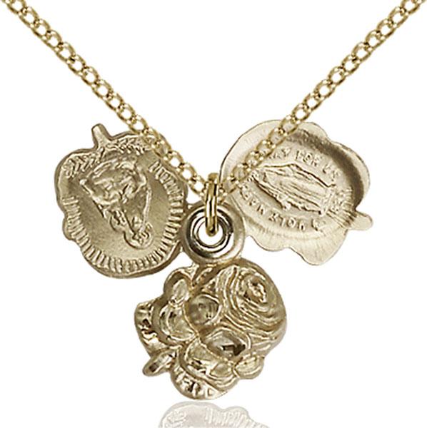 Gold-Filled Rosebud Pendant