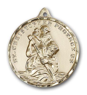Gold-Filled St. Christopher Pendant
