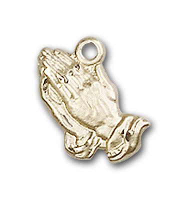 14K Gold Praying Hands Pendant