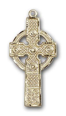 Gold-Filled Kilklispeen Cross Pendant