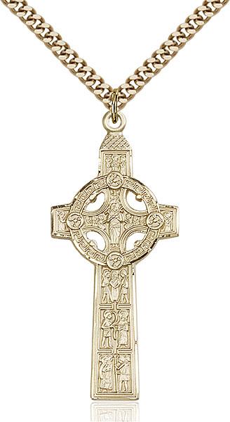 Gold-Filled Scriptures Cross Pendant