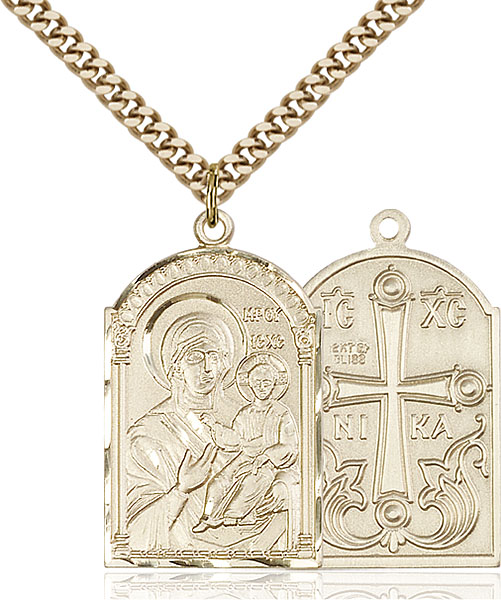 Gold-Filled Mother of God Pendant