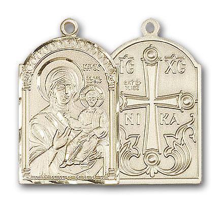14K Gold Mother of God Pendant