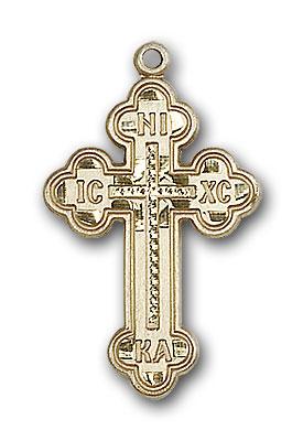 Gold-Filled Russian Cross Pendant