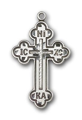 Sterling Silver Russian Cross Pendant