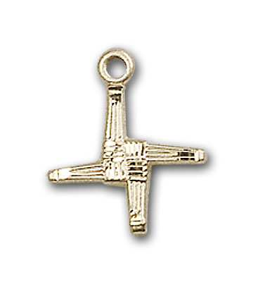 Gold-Filled St. Brigid Pendant
