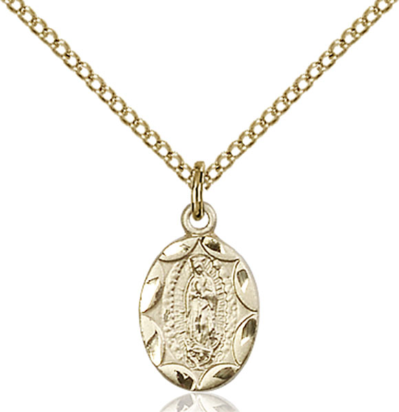 Gold-Filled Our Lady of Guadalupe Pendant