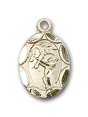 14K Gold St. Francis Pendant