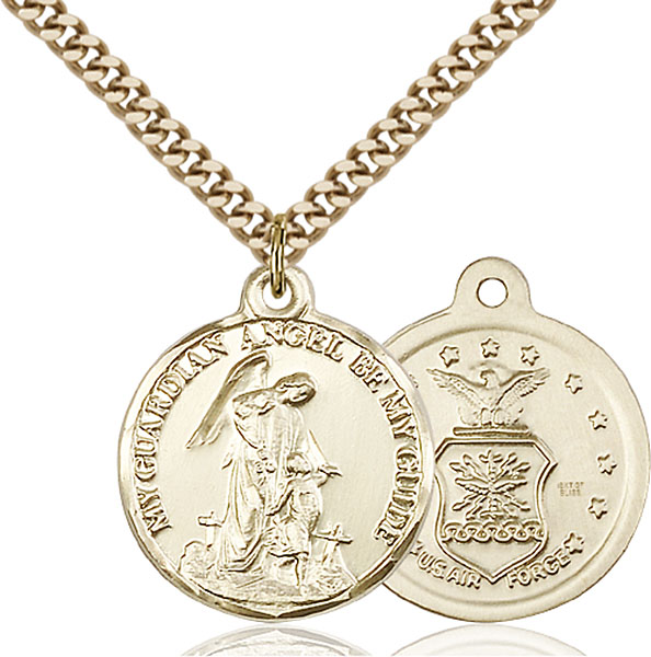 Gold-Filled Guardain Angel / Air Force Pendant