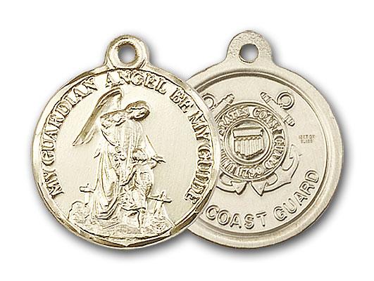 Gold-Filled Guardain Angel / Coast Guard Pendant