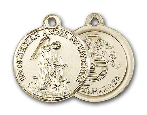 Gold-Filled Guardain Angel / Marines Pendant