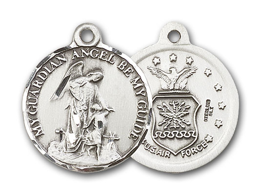 Sterling Silver Guardain Angel / Air Force Pendant