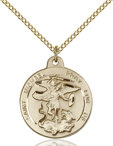 Gold-Filled St. Michael the Archangel Pendant
