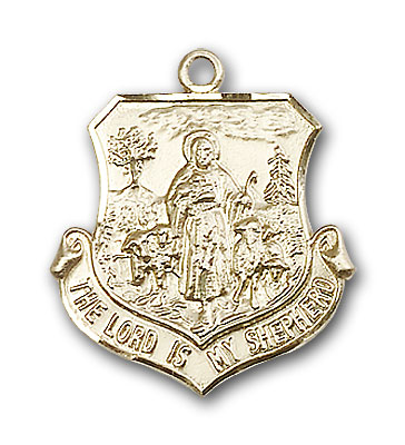 Gold-Filled Lord Is My Shepherd Pendant
