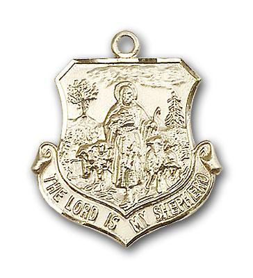 14K Gold Lord Is My Shepherd Pendant
