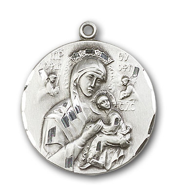 Sterling Silver Our Lady of Perpetual Help Pendant
