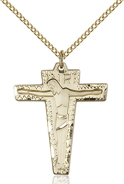 Gold-Filled Primative Crucifix Pendant