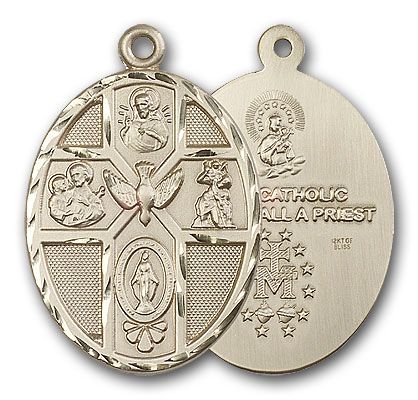 14K Gold 5-Way / Holy Spirit Pendant