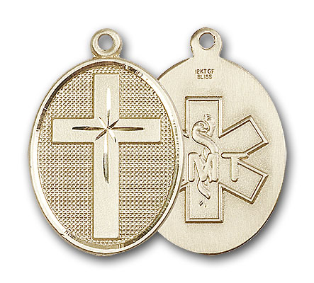14K Gold Cross / Emt Pendant