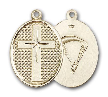 14K Gold Cross / Paratrooper Pendant