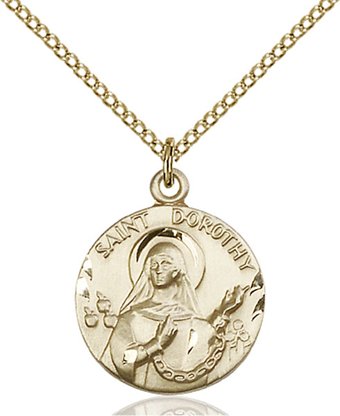 Gold-Filled St. Dorothy Pendant