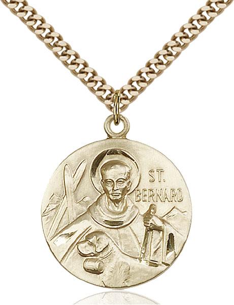 Gold-Filled St. Bernard of Clairvaux Pendant