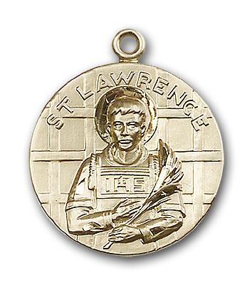 14K Gold St. Lawrence Pendant - Engravable