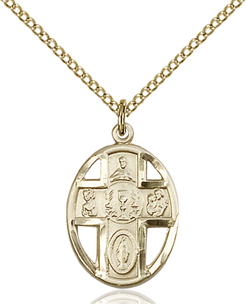 Gold-Filled 5-Way / Chalice Pendant