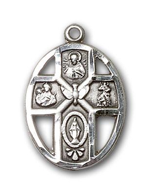 Sterling Silver 5-Way / Holy Spirit Pendant